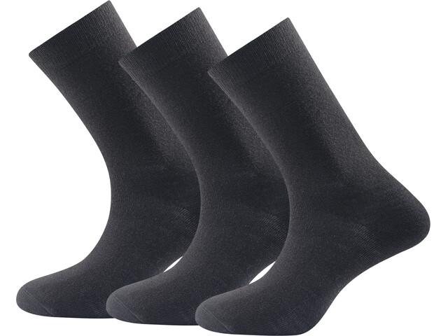 Devold Daily Medium Socks Men 3er Pack Black
